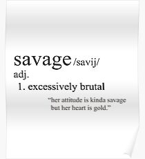 SAVAGE Definition Fashion Shirt and Accessories Poster