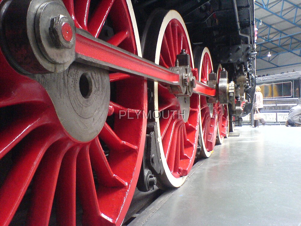 Train wheels by PLYMOUTH