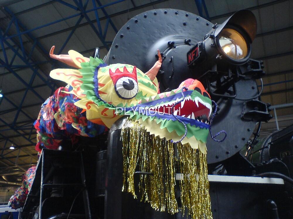 Steam train dragon by PLYMOUTH