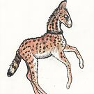 Serval Horse Wildcat Horse by Stephanie Small