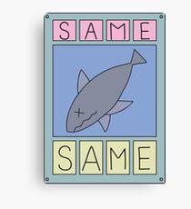 Nichijou Same Shark Canvas Print