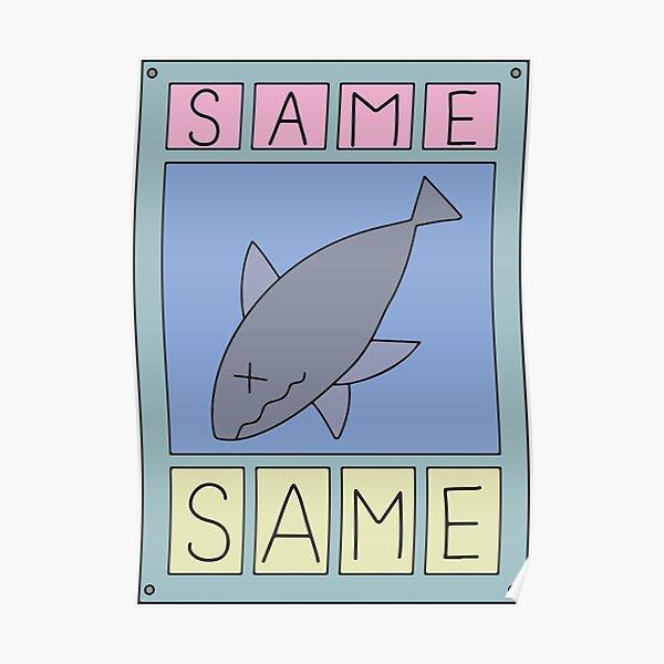 Nichijou Same Shark Poster