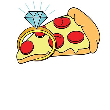 I would marry Pizza- funny design. by sgibby80