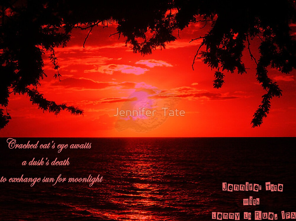 Red Sunset with Cracked Eye by Jennifer  Tate
