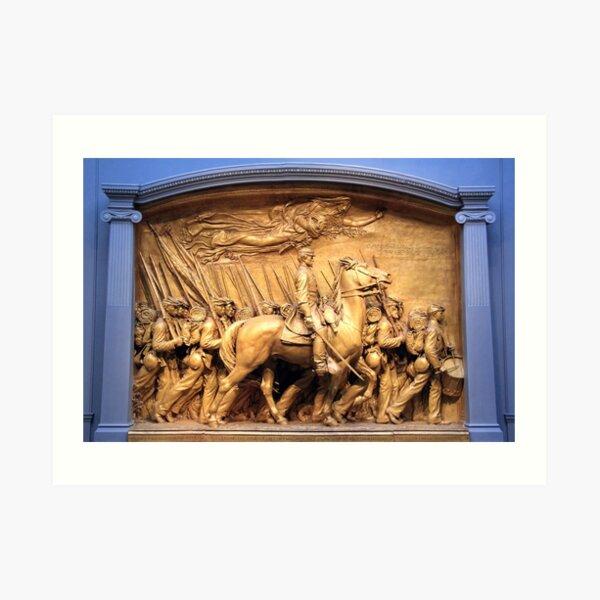Saint Gaudens' The Shaw Memorial Marches On Art Print