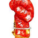 Roter Boxhandschuh von AnnArtshock