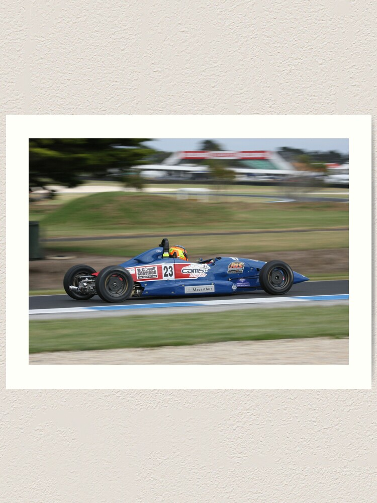 Alternate view of Flying Formula Ford Art Print
