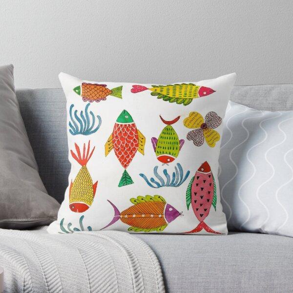 Colorful Sea Throw Pillow