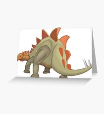 Stegosaurus Dinosaur Illustration Greeting Card