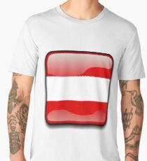 Austria Flag Icon Men's Premium T-Shirt
