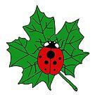 Ladybug on maple leaf by tanyadann