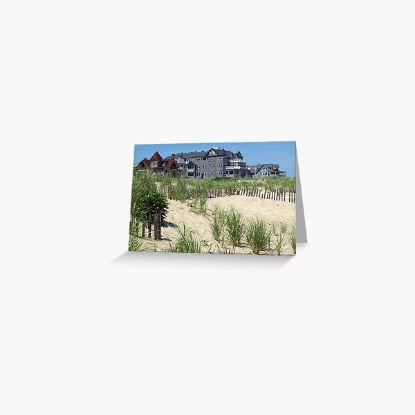 Beach Homes in Ocean Grove, NJ Greeting Card