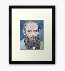 FYODOR DOSTOYEVSKY - oil portrait Framed Print
