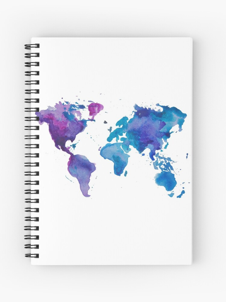 Watercolor Map of the World\