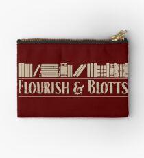 Flourish & Blotts Zipper Pouch