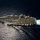 Der Flugzeugträger der Nimitz-Klasse, USS Abraham Lincoln, durchquert das Arabische Meer. von StocktrekImages