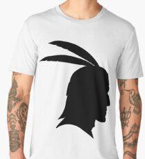 Native American Indian Man, Silhouette Men's Premium T-Shirt