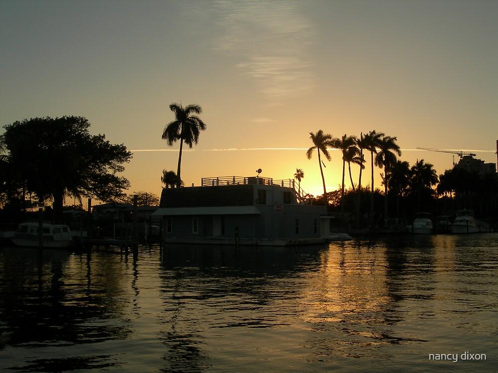 River Sunset by nancy dixon