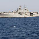 Das amphibische Angriffsschiff USS Essex. von StocktrekImages