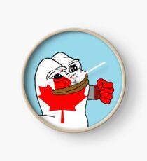 Punching Pepe (Canada) Clock
