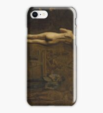 William Rush Carving His Allegorical Figure of the Schuylkill River 1874 Thomas Eakins iPhone Case/Skin
