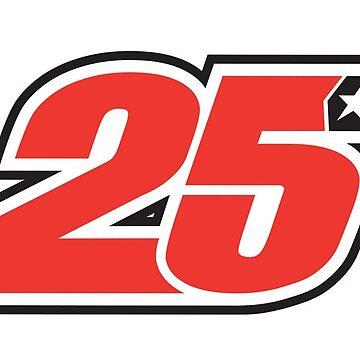 #25 Maverick Vinales - MotoGP Rider Number by xEver