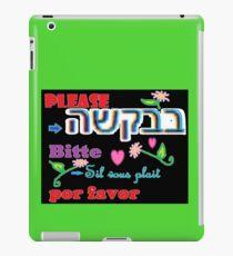 Please in Many Languages, Linguas iPad Case/Skin