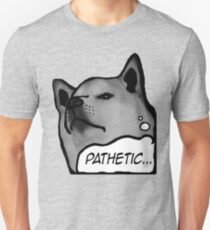 "Shiba Inu - ""Pathetic..."" Slim Fit T-Shirt"