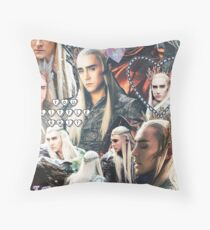 thranduil collage Throw Pillow