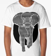 Elephant Silhouette Design Long T-Shirt
