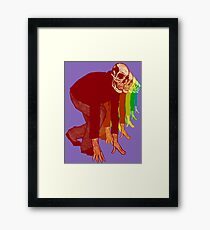 Racing Rainbow Skeletons Framed Print