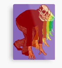 Racing Rainbow Skeletons Metal Print