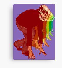 Racing Rainbow Skeletons Canvas Print