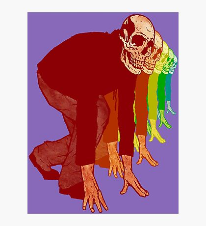 Racing Rainbow Skeletons Photographic Print