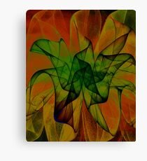Flame Floral Canvas Print
