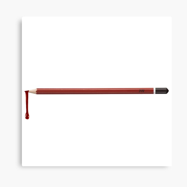 Three Men, One Pencil Canvas Print