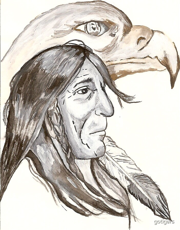 Indian and Eagle by gotigers