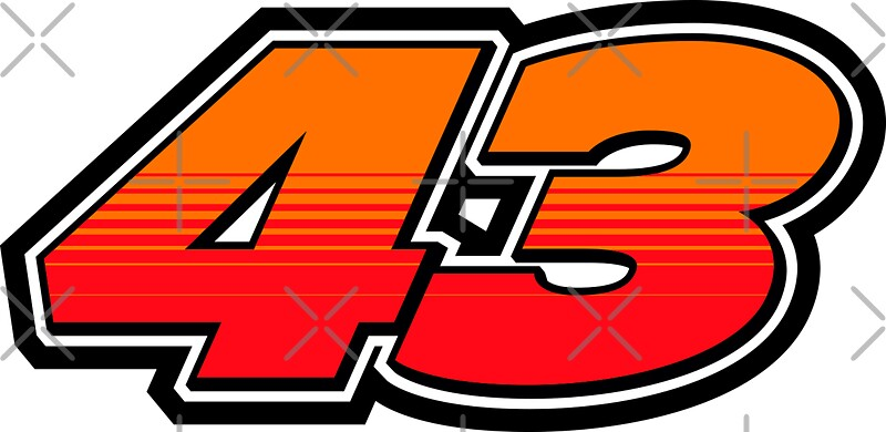"""#43 Jack Miller - MotoGP Rider Number"" Stickers by xEver 