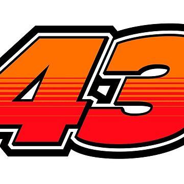 #43 Jack Miller - MotoGP Rider Number by xEver