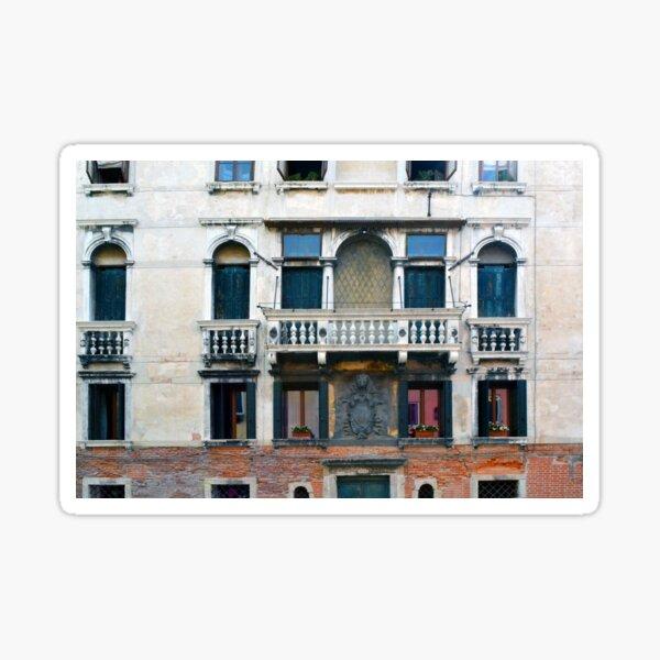 Detailed classical Italian building facade Sticker