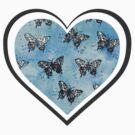 Butterflies on Blue by SpottiClogg