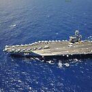Der Flugzeugträger USS Nimitz. von StocktrekImages