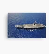 The aircraft carrier USS Nimitz. Canvas Print