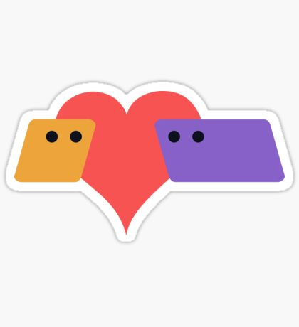 Rhombus Loves Parallelogram Sticker