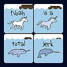 «Evolución del unicornio (Noah es un imbécil) (Amigos guerreros con cuernos)» de jezkemp
