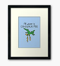 All Water Is Dinosaur Pee (Pterodactyl) Framed Print