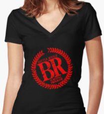 Battle Royale Women's Fitted V-Neck T-Shirt