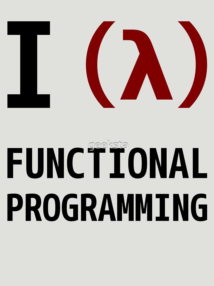 I Love Functional Programming - Black/Maroon Design by geeksta