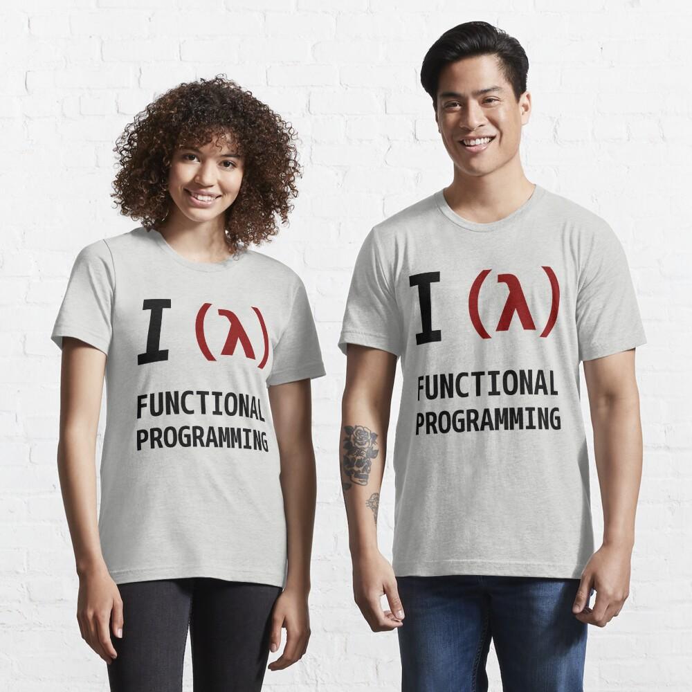 I Love Functional Programming - Black/Maroon Design Essential T-Shirt