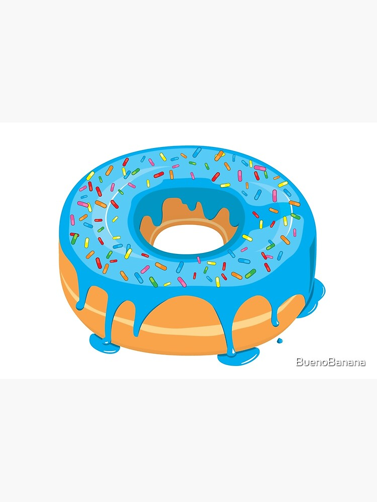 Creamy Blue Glazed Donut with Sprinkles by BuenoBanana